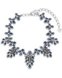 Oscar de la Renta - Multicolored Crystal Parlor Necklace - Lyst