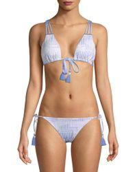 Dolce Vita - Strappy Tassel Bikini Top - Lyst
