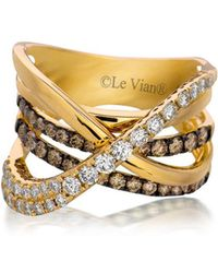 Le Vian - Chocolatier Gladiator Weave Diamond & 14k Rose Gold Ring - Lyst
