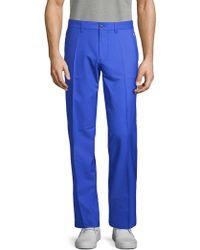 J.Lindeberg Flat-front Dress Trousers - Blue