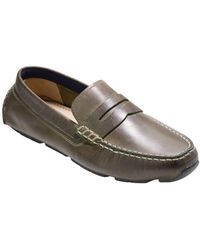 Cole Haan - Kelson Leather Penny Driver - Lyst