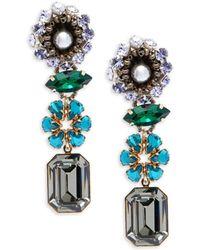 Tataborello - Swarovski Crystal Drop Earrings - Lyst