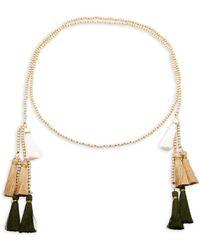 Panacea - Beaded Tassel Necklace - Lyst