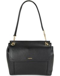 Calvin Klein - Abbey Leather Shoulder Bag - Lyst