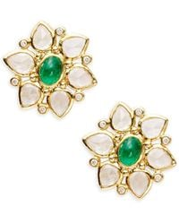 Temple St. Clair - Cl Colour 18k Yellow Gold Ottoman Stud Earrings - Lyst