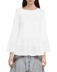 BCBGMAXAZRIA - Harmony Mixed-media Top - Lyst