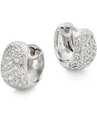 Saks Fifth Avenue - Pavé Huggie Hoop Earrings - Lyst