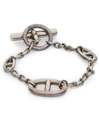 Hermès - Vintage Sterling Silver Chain Toggle Bracelet - Lyst