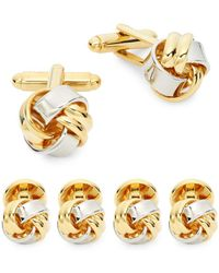 Saks Fifth Avenue - Three-piece Classic Knot Cufflinks Set - Lyst