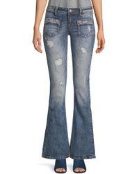 Miss Me - Glitz Embellished Flared Jeans - Lyst