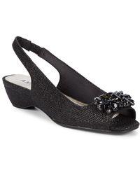 Anne Klein - Helissa Embellished Slingback Sandals - Lyst
