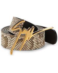 Giuseppe Zanotti - Signature Logo Leather Belt - Lyst