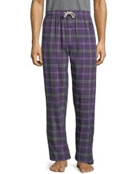 Psycho Bunny - Flannel Pyjama Trousers - Lyst