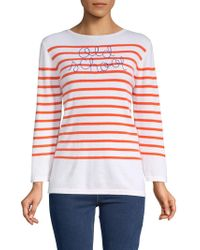 Lingua Franca - Striped Cashmere Sweater - Lyst