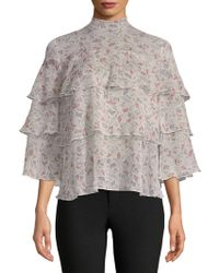 Philosophy By Republic - Floral-print Tiered Top - Lyst