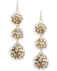 Jardin - Pipe Bead Drop Earrings - Lyst