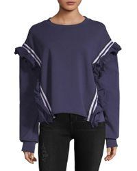 Lea & Viola - Ruffled Cotton Sweatshirt - Lyst
