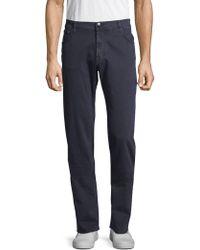Corneliani - Cotton Blend Straight Pants - Lyst