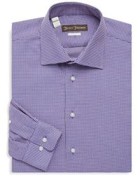 Hickey Freeman - Two-tone Cotton Dress Shirt - Lyst