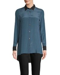 Robert Graham - Chiara Silk-blend Button-down Shirt - Lyst