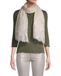 Saachi - Lace-trim Wool Scarf - Lyst