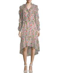 Julia Jordan - Floral-print Ruffled Hi-lo Dress - Lyst
