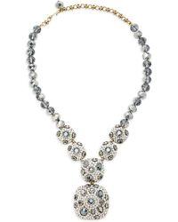 Heidi Daus - Hematite Square Crystal Necklace - Lyst