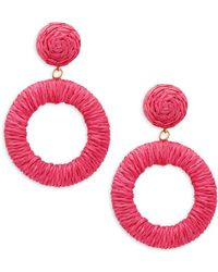 Panacea - Wrapped Circle Drop Earrings - Lyst