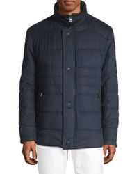 Bugatti - Plaid Quilted Puffer Jacket - Lyst