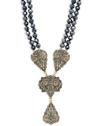 Heidi Daus - Dramatic Beaded Pendant Necklace - Lyst