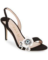 Aperlai - Floral Applique Sandals - Lyst