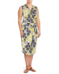 RACHEL Rachel Roy - Printed Matte Sheath Dress - Lyst
