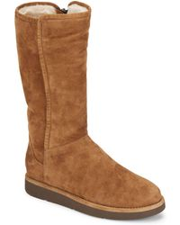 UGG - Abree Shearling-lined Tall Suede Boots - Lyst