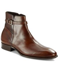 Mezlan - Buckle Leather Boots - Lyst
