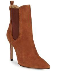 Schutz - Side-gore Stiletto Heel Leather Bootie - Lyst