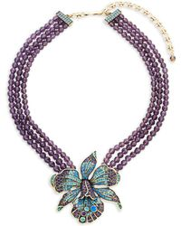 Heidi Daus - Crystal Orchid Triple Beaded Necklace - Lyst