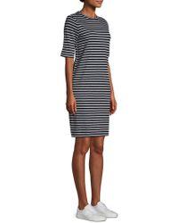 Eileen Fisher - Seaside Striped Linen Jersey Dress - Lyst
