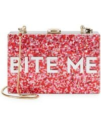 MILLY - Glitter Bite Me Convertible Clutch - Lyst