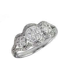 Effy - Diamond And 14k White Gold Three Circle Ring, 0.63 Tcw - Lyst