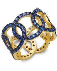 Freida Rothman - Baroque Blues Glass Stone Ring - Lyst