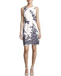 Donna Ricco - Printed Cotton Mini Dress - Lyst