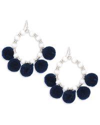 Saks Fifth Avenue - Pom Pom Hoop Earrings - Lyst