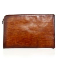Saks Fifth Avenue - Collection By Magnanni Hand Burnished Leather Portfolio - Lyst