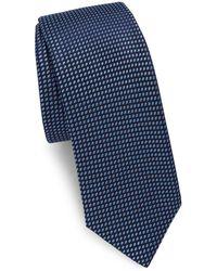 Saks Fifth Avenue - Two-tone Dot Silk Narrow Tie - Lyst
