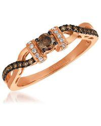 Le Vian - 14k Strawberry Gold & Diamonds Chocolatier Ring - Lyst