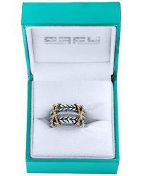Effy - Diamond, 18k Yellow Gold & Sterling Silver Ring - Lyst