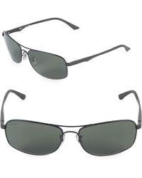 Ray-Ban - 63mm Polarized Rectangle Sunglasses - Lyst