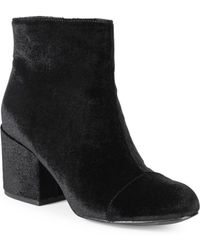Charles David - Quincey Velvet Ankle Booties - Lyst