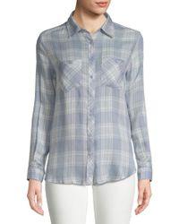 PPLA - Markie Plaid Button-down Shirt - Lyst