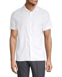 Perry Ellis - Point Collar Button-down Shirt - Lyst